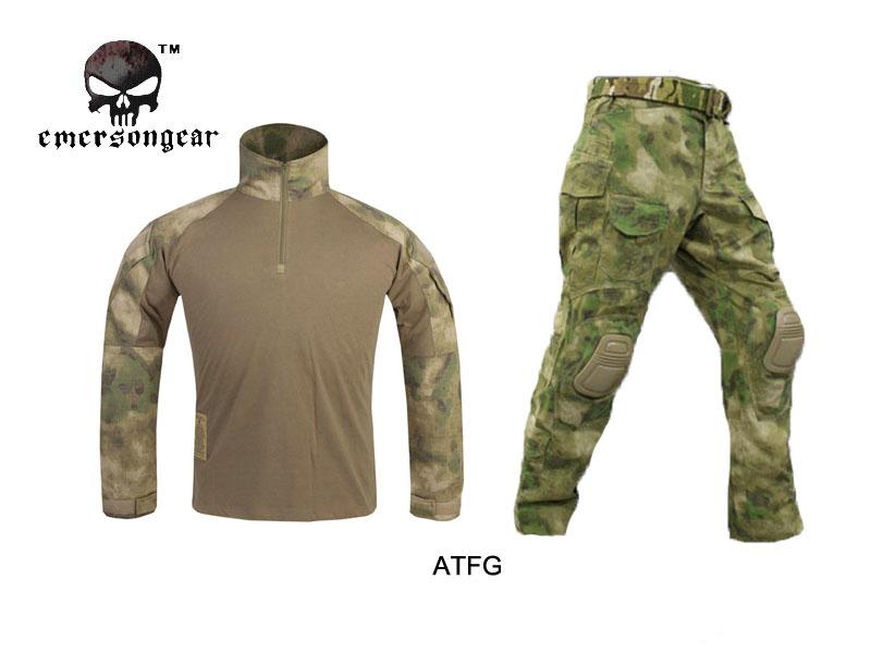 Emerson G3 Combat uniform Shirt & Pants with knee pads Emerson BDU Military Army uniform AT/FG