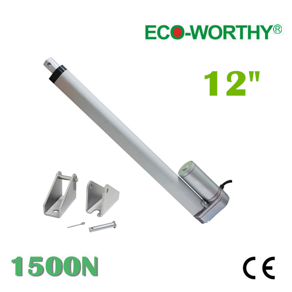 300mm stroke 12V DC electric linear actuator,solar tracker,1500N=150KG load 5.7mm/sec , for electric sofa, bed, window others(China (Mainland))