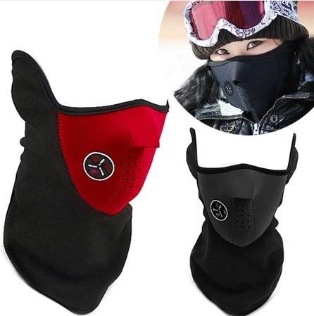 Motorcycle Bicycle Half Face Mask Winter Warm Outdoor Sport Ski Mask Ride Bike Cap CS Mask Neoprene Cycling Snowboard Neck Veil