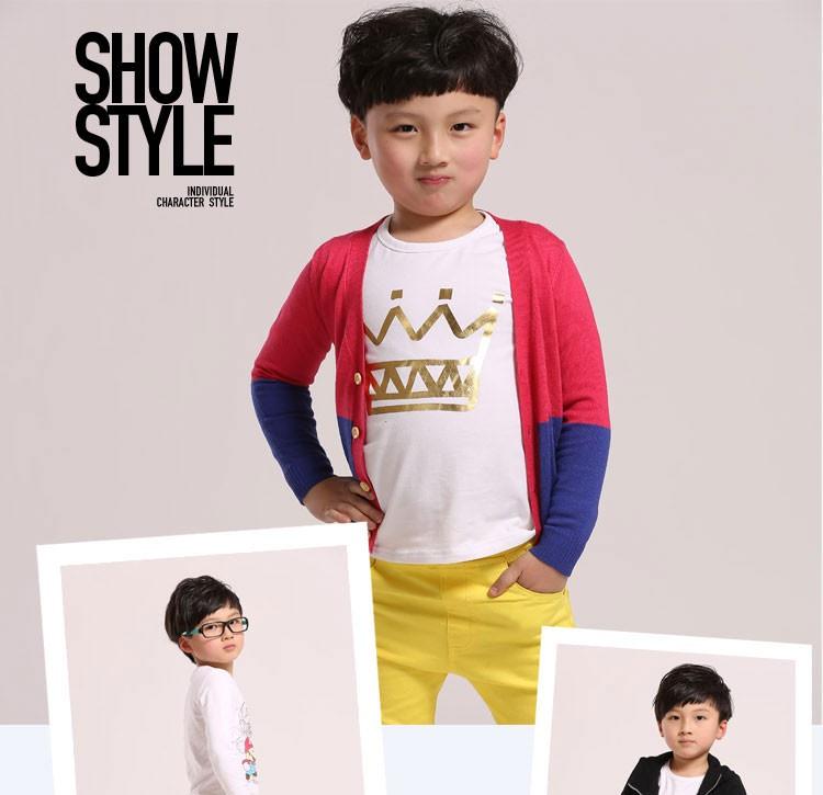 100% Cotton Fashion Boys Pants Children Trousers Autumn Pants Pencil Pants Solid Skinny White Yellow Hot Sale