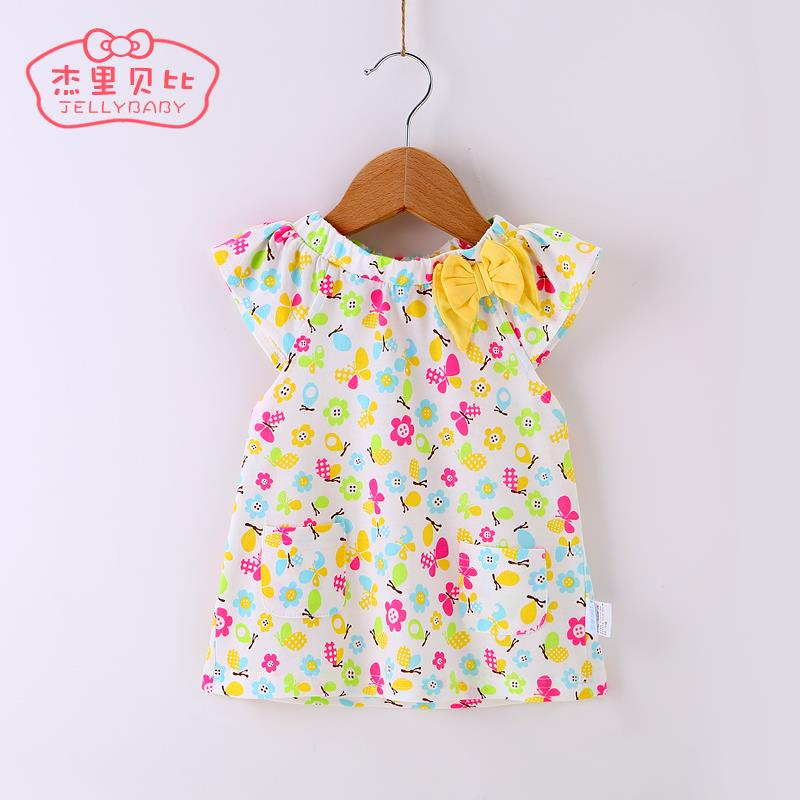 2015 girl t-shirt Wholesale Price! Fashion Baby Girl Blouses Turn down Collar Bow knot Kids Shirts Solid Children Clothes(China (Mainland))