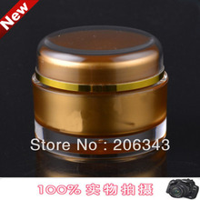 50G acrylic gold roundcream bottle ,cosmetic container,,cream jar,Cosmetic Jar,Cosmetic Packaging - packing world -cosmetic and medicine store