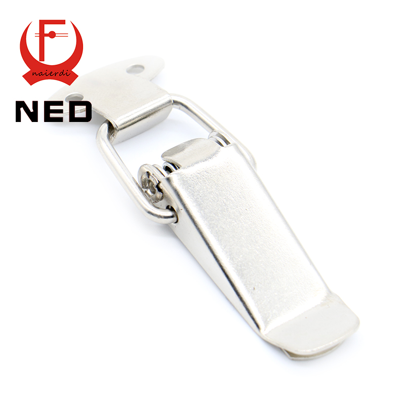NED J105 Hardware Cabinet Boxes Spring Loaded Latch Catch Toggle Hasp 27*63 Iron Hasp For Sliding Door Simple Window Cabinet(China (Mainland))