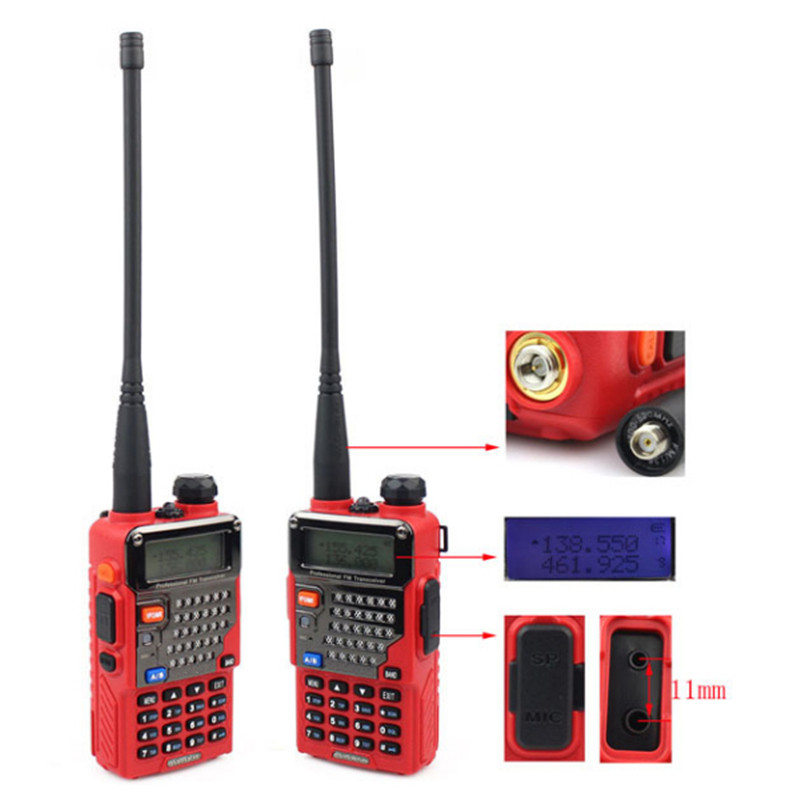1 Set Walkie Talkie 128CH UHF+VHF 136-174MHz/400-520MHz High Quality(China (Mainland))