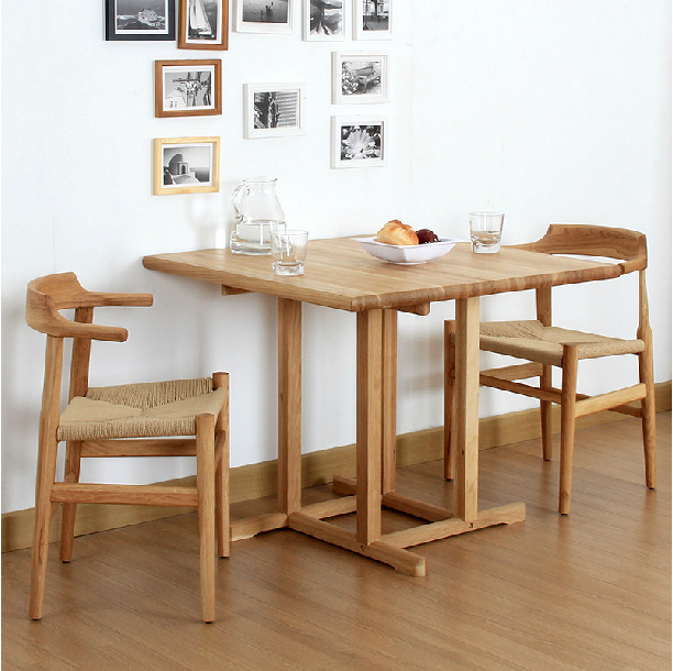 White Oak Solid Wood Dining Table Nordic Contemporary And Contracted