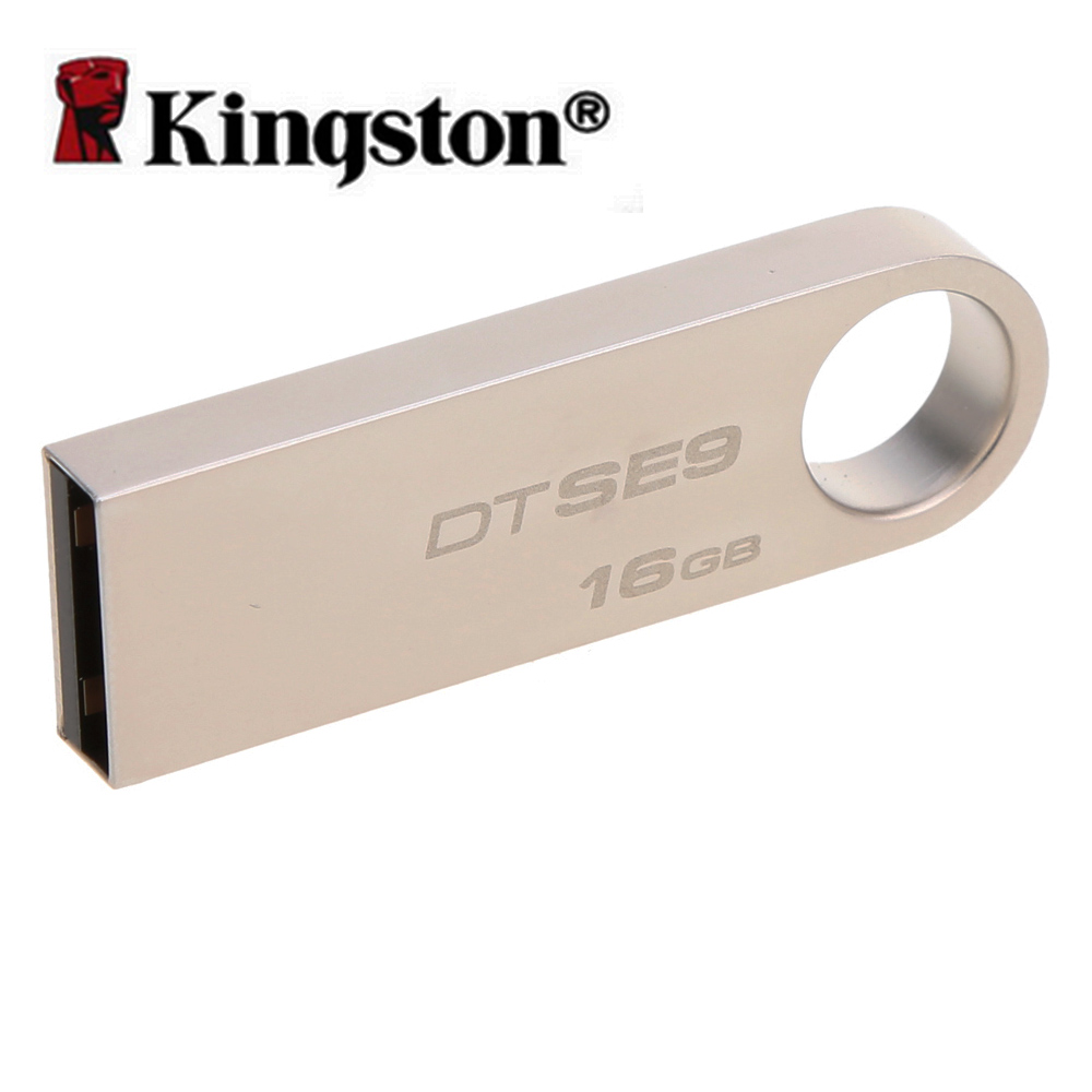 Kingston 16GB usb flash drive High Speed Data usb 2.0 dtse9 USB stick pendrive Metal usb flash U Disk pen drive Cool gift(China (Mainland))