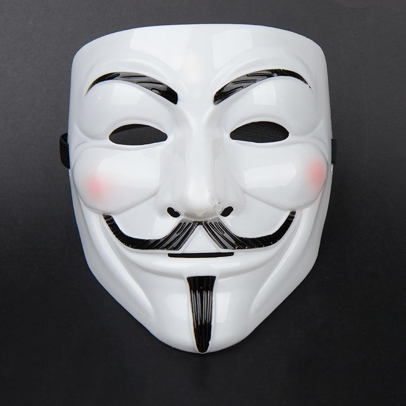 1Pc Party Mask V For Vendetta Anonymous Film Guy Fawkes Face Mask Fancy Dress 2 Colors(China (Mainland))