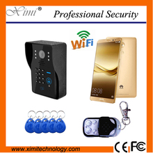 New arrival high quality mobile wifi video door phone night vision WIFI/IP visual doorbell(China (Mainland))
