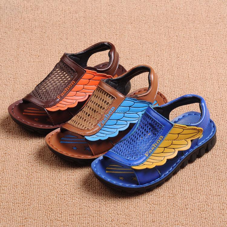 Дети сандалии лето обувь крылья воздухопроницаемый дети сандалии фирменный