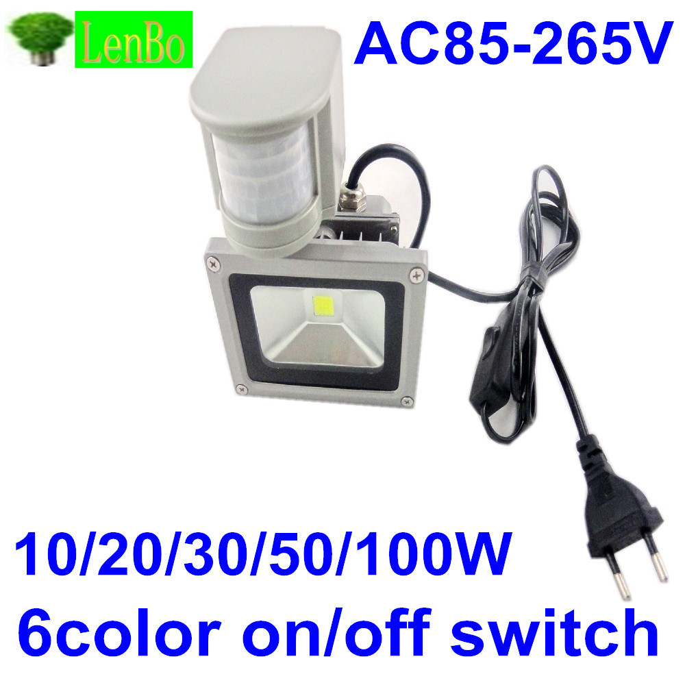 With On/off Switch 110v 220V Outdoor Floodlight 10W 20W