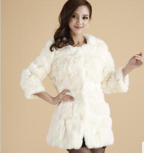 leather coat The new 2013 rabbit hair real fur couture spring dress fur coat in the long season special offer a clearance saleОдежда и ак�е��уары<br><br><br>Aliexpress
