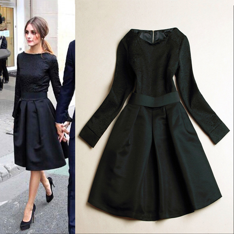 2015 Early Spring Dress Women Boutique Celebrity Lady Wear Soild Black Ball Gown Dresses New Arrival Desigual DressОдежда и ак�е��уары<br><br><br>Aliexpress