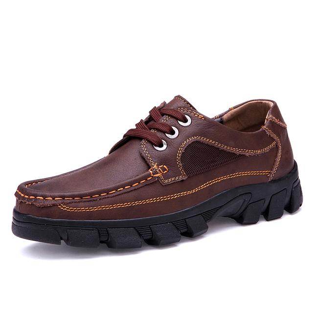 Ручной работы марка классический мужчин квартиры обувь мужские натуральная кожа мужчины ...