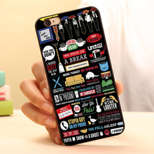 FRIENDS TV SERIES FUNNY COLLAGE ARTWORK Hard Black Skin Mobile Phone Case Accessories For iPhone 6 6plus 5c 5s 5 4 4s Case Cover