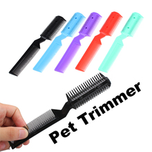 LS4G 2014 Pet Products New Pet Hair Trimmer Grooming Comb 2 Razor Cutting Free Shipping