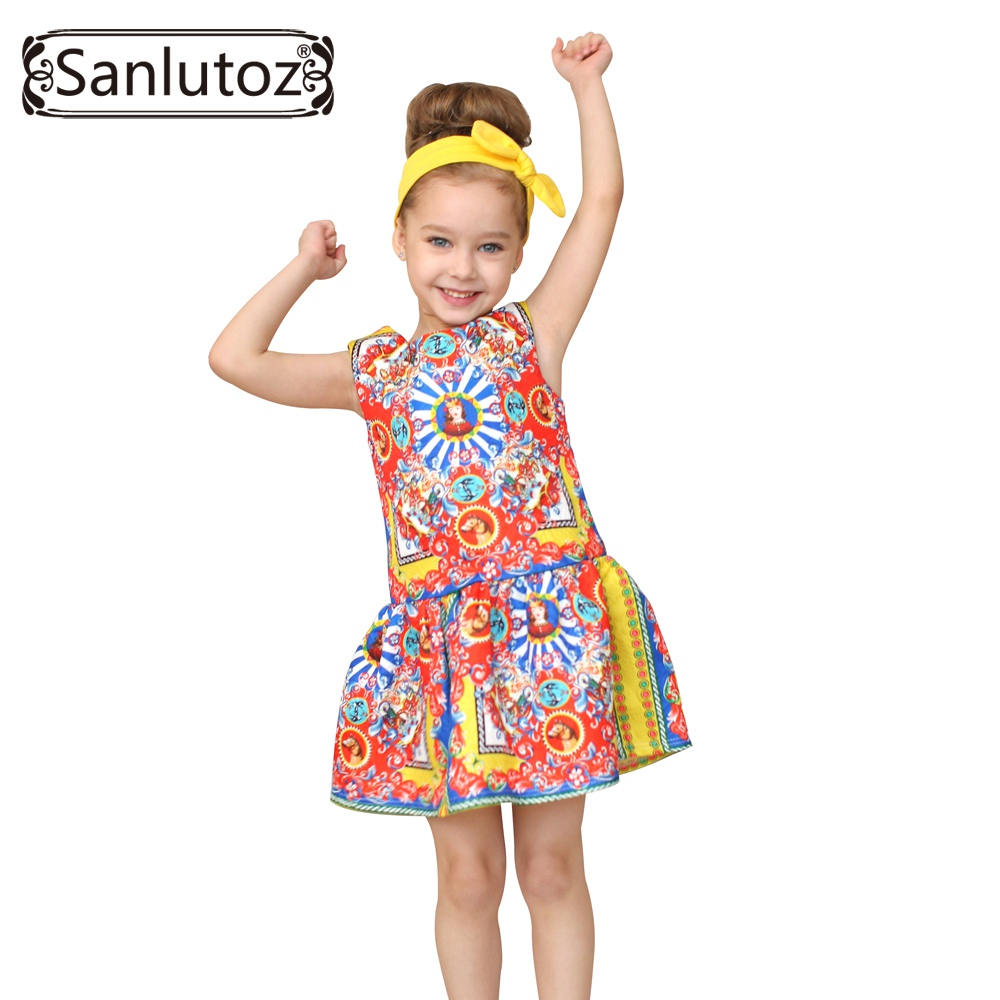 Girls Clothes Brand Girls Dress Princess Party Kids Children Clothing Toddler 2016 Kids Fun(China (Mainland))