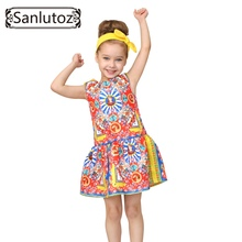 Meninas roupas de marca meninas vestido de princesa do partido dos miúdos roupa das crianças criança 2016 o divertimento dos miúdos