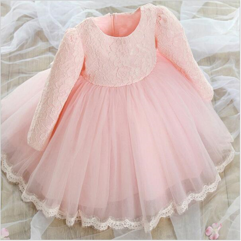 New Design Baby Girl Baptism Christening Dress Lace Tutu 1 Year Girl Baby Birthday Dress Wedding Party Girls Autumn Dresses Kids<br><br>Aliexpress