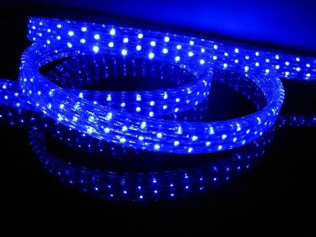 100m/roll LED 5 wires flat rope light;36leds/m;size:11mm*28mm;DC12V/24V/AC110/220V are optional;blue color