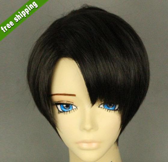 Free shipping Fashion synthetic hair Black Handsome boys wig Korean fashion men's short hair men Cosplay Extra Fibre Hair wigs(China (Mainland))