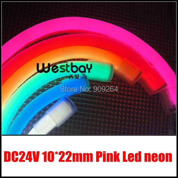 Pink 24V Mini led neon flexible lights for letter signs material,short distance cuttable,DC voltage input, easy installation<br><br>Aliexpress