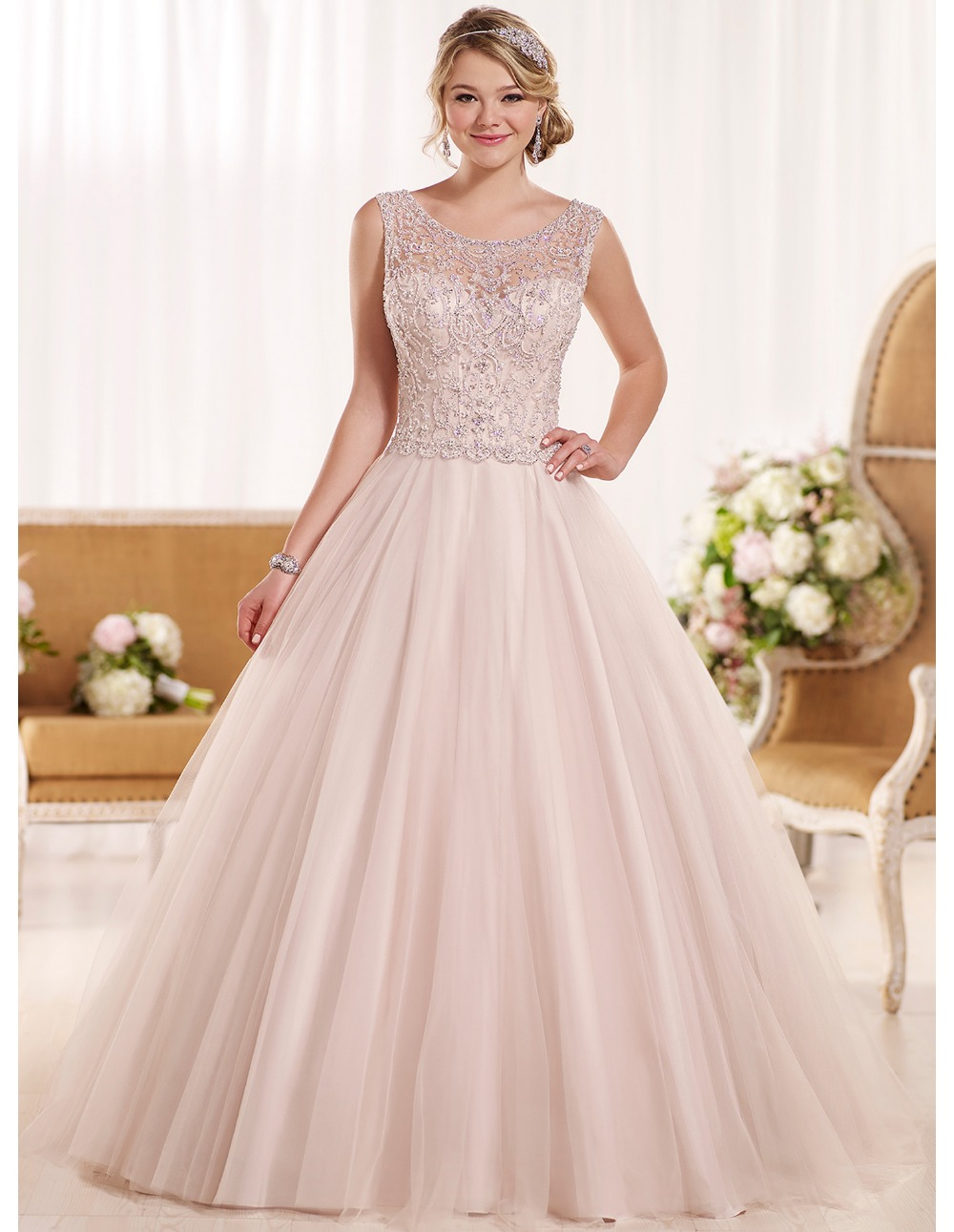 Cheap Sexy Backless China Blush Pink Wedding Dresses Plus