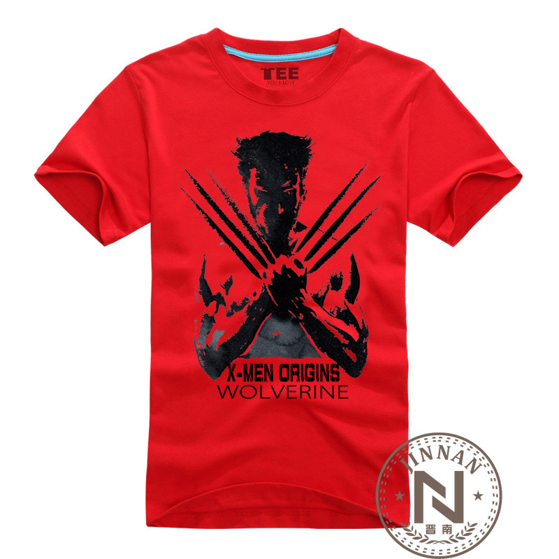 Super hero clothing wolverines t shirt men boy cotton t Boys superhero t shirts