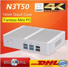 Fanless Mini PC Cheapest Intel 14nm Quad Core N3150 Mini PC Windows 10 Intel Core N3050U 4K Kodi HTPC 300M wifi HDMI  VGA (China (Mainland))