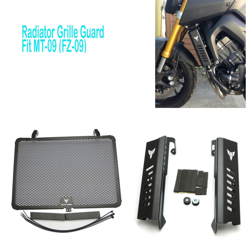 MT09/FZ09 Radiator Grills Grille Guard Cover Protector For Yamaha MT09 Tracer MT-09 FZ-09 MT FZ 09 2017 2017 Free Shipping
