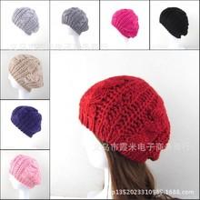 2015 Beret Braided Baggy Knit Crochet Hat Ski Cap Women Beanie Hat Lady Girls Fashion Cap Multi-color Hot Sale(China (Mainland))