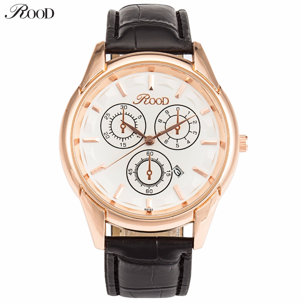 Fashion Watches Men's Wristwatches Luxury Brand Top Quality 2016 Men Leather Strap Watch Gold Man Watch Casual Clock Waterproof(China (Mainland))