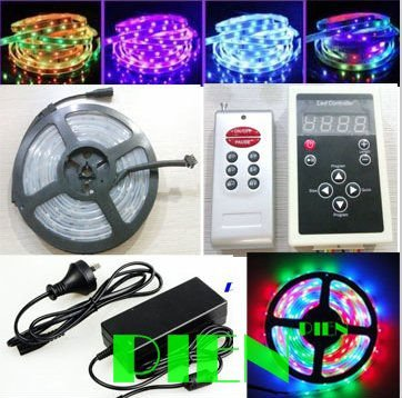 Здесь можно купить  Digital LED Strip light RGB 5050 Magic Dream color SMD 150LED 5M 133 Program+RF Controller+4A Power supply by Express 5set/lot Digital LED Strip light RGB 5050 Magic Dream color SMD 150LED 5M 133 Program+RF Controller+4A Power supply by Express 5set/lot Свет и освещение