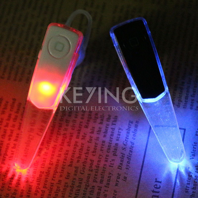 LED Earpieces Mini Wireless Stereo Bluetooth Headsets With Flashing Micrphone For Samsung Xiaomi Mobile Phone iPhone 5 Earphone