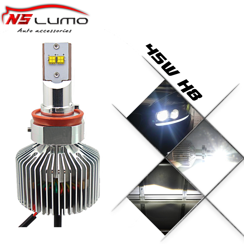 Фотография 2014 Brightest Car Led Headlight 4500LM each lamp H8 LED headlight One-Piece design waterproof high power 90W H8 led headlight