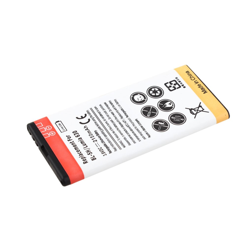2x 2150mAh Replacement Commercial BL-5H Battery + Wall Charger For Nokia Lumia 630 638 636 635 Mobile Phone Battery Bateria