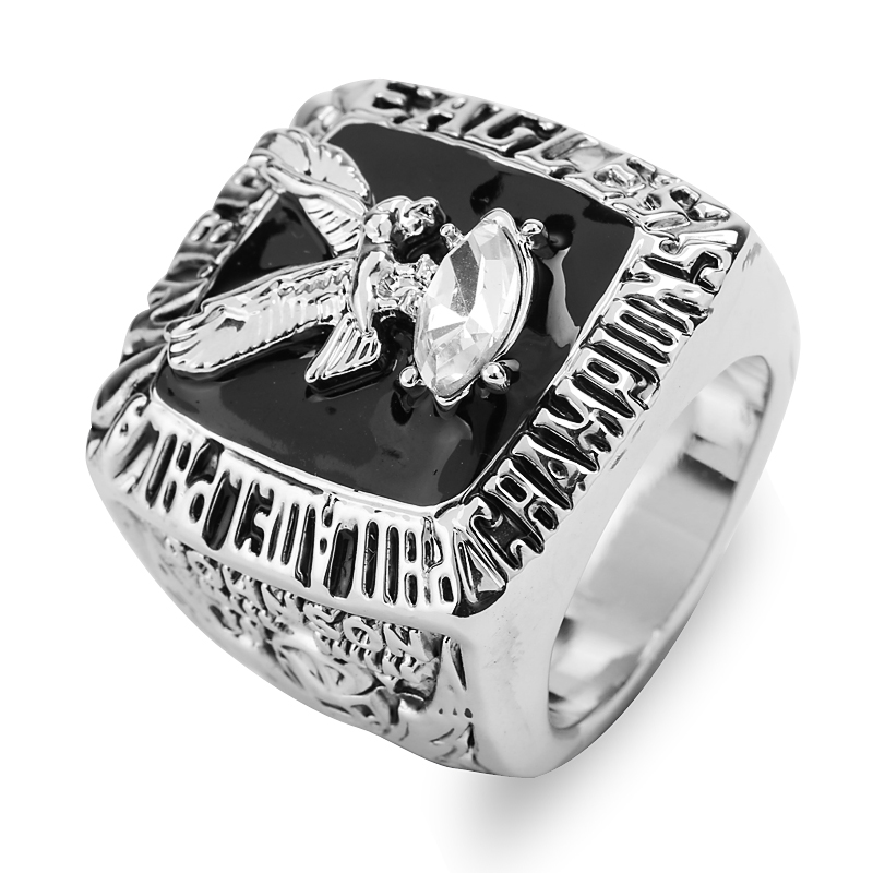 1980 Super Bowl Philadelphia Eagles Football Men Maxi Championship Rings Steampunk Luxury Crystal Enamel Friend Cocktail Ring(China (Mainland))