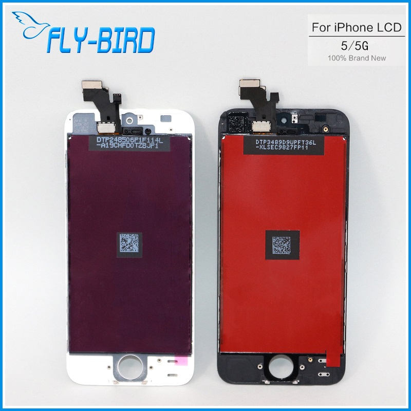 20PCS/LOT For Apple iPhone 5 Display Screen LCD Assembly With Digitizer Glass No Dead Pixel A Quality Free Ship(China (Mainland))