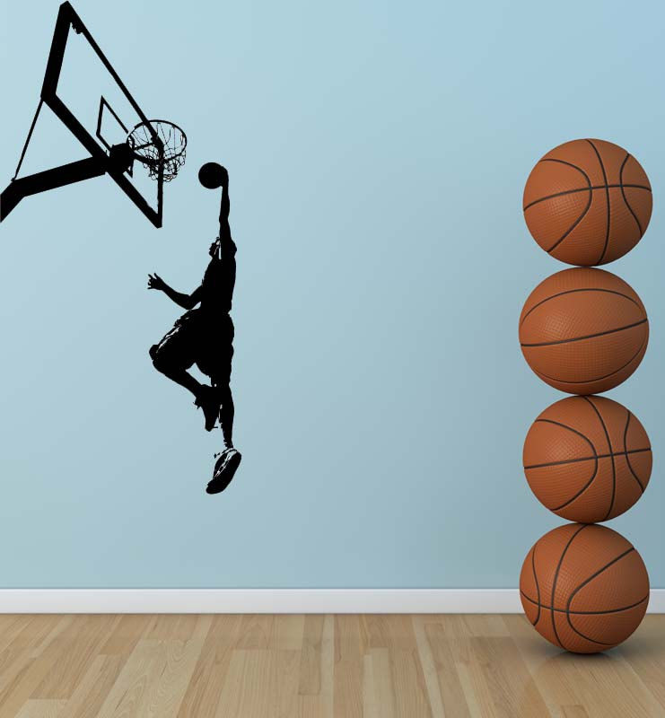 Online get cheap basketball wall murals for Basketball mural wallpaper