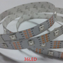 best price 1m/5m APA102 Smart led pixel strip,Black/White PCB,36/60/96 ledss/m ,IP30/IP65/IP67 DATA and CLOCK seperately DC5V(China (Mainland))