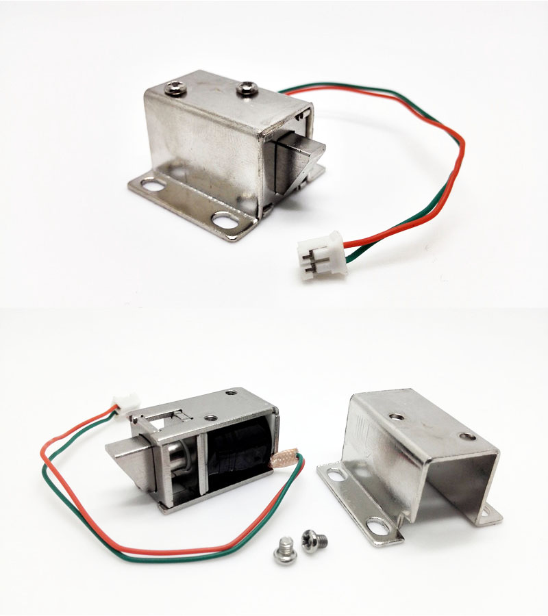 DC 12V Mini Small Size Solenoid Electromagnetic Electric Control Cabinet Drawer Lock(China (Mainland))