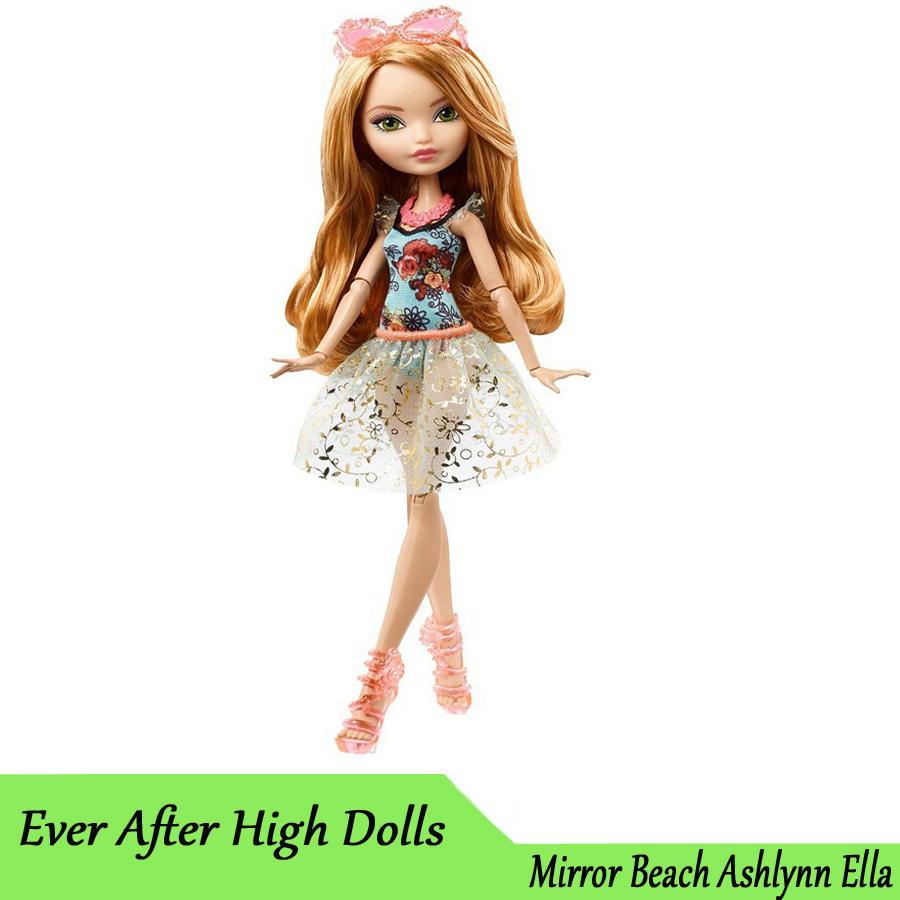 Genuine Original Ever After High Mirror Beach Ashlynn Ella Doll plastic toys Best gift for girl Free shipping new(China (Mainland))