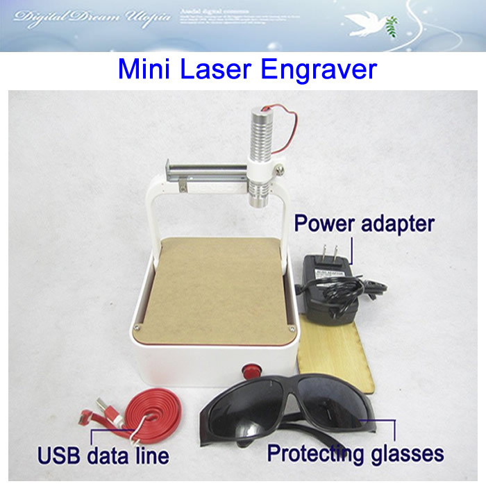 Mini Laser Engraver Engraving Machine with USB port interface 250MW, support BMP photo format free ship!(China (Mainland))