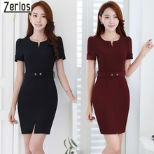 Buy Navy Blue black Dress Work Wear 2017 Vestido Major Women Office Dress Professional Slim dresses fashion uniforms Dress for $25.04 in AliExpress store
