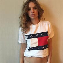 Harajuku Casual 2016 vrouwen Summer Tees Letters Printed White Tshirts Tops camicia Donna rock tshirt sml(China (Mainland))