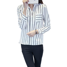 Blusas Y Camisas Mujer Ropa Lace Chiffon Blouse Shirt Women Blouses Plus Size Vetement Femme Chemise Striped Tops Woman Clothes
