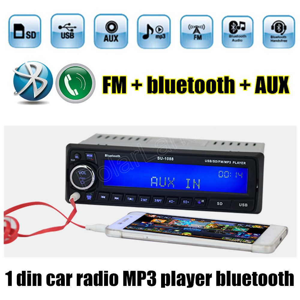 12V Bluetooth handsfree folder play auto Radio FM/USB/SD/AUX IN MP3 player Car Electronic vehicle Audio Stereo 1 Din(China (Mainland))