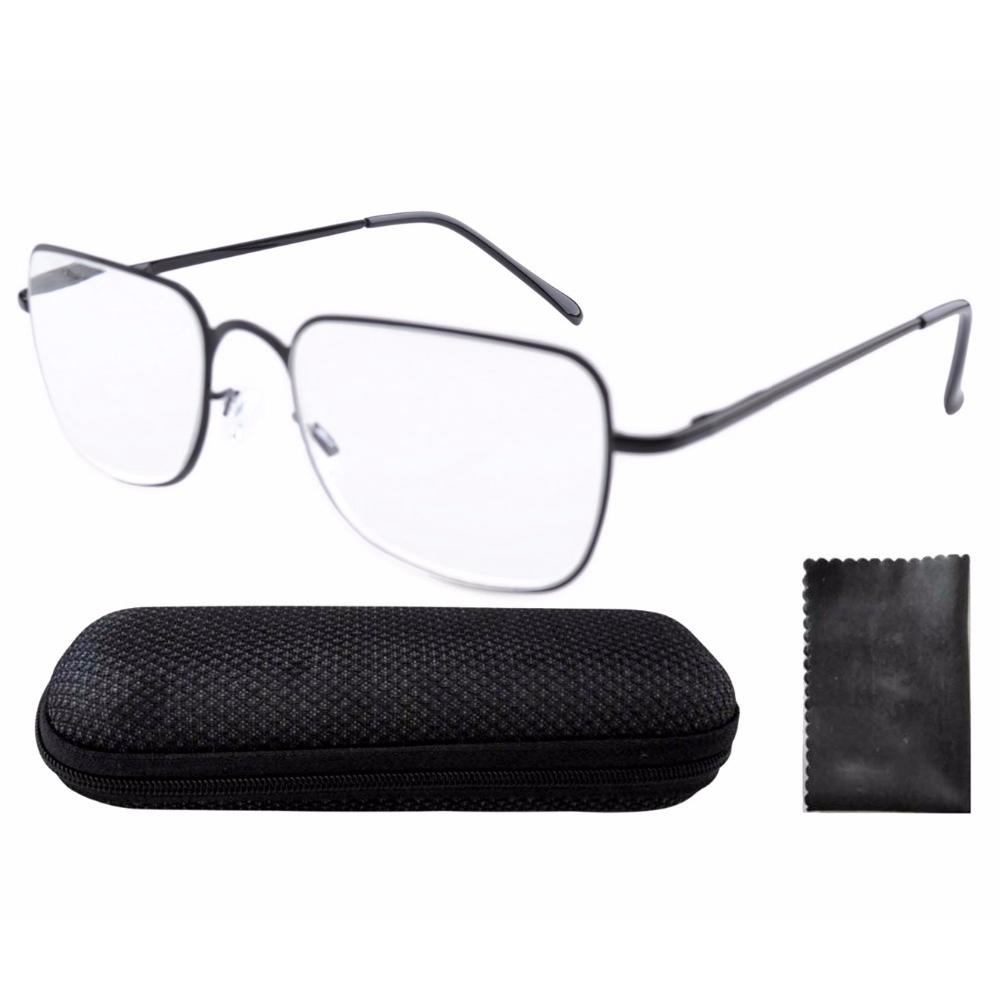 R1501 Black Eyekepper Stainless Steel Frame Spring Hinges Reading Glasses +0.0/0.5/0.75/1/1.25/1.5/1.75/2/2.25/2.5/2.75/3/3.5/4(China (Mainland))