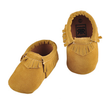 10 Pairs baby shoe Suede Frosted Matte Handmade Tassels sofe Bottom Toddler Baby First Walker Shoes Prewalker Baby Moccasins(China (Mainland))