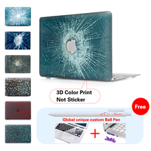 Red Crack Glass Laptop Computer Bag For Apple Mac Macbook Pro 15 Case Cover / Macbook Pro 13 15 Inch With Retina Display A1502