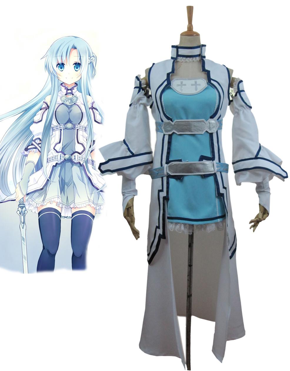 Sword Art Online ALO Alfheim Online Yuki Asuna Cosplay CostumeОдежда и ак�е��уары<br><br><br>Aliexpress